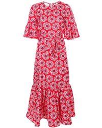 LaDoubleJ Curly Swing patterned dress - Rouge