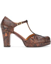 Chie Mihara Pumps con effetto serpente - Marrone