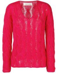 Lamberto Losani - Cable Knit Sweater - Lyst