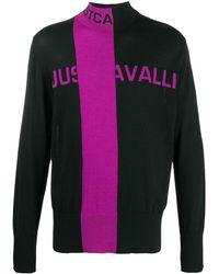 Just Cavalli ストライプ ロングスリーブ プルオーバー - ブラック