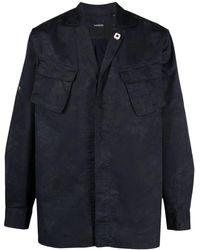 Lardini チェストポケット シャツ - ブルー