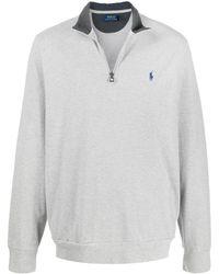 Polo Ralph Lauren Jersey con cuello alto y logo - Gris