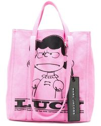 Marc Jacobs X Peanuts Lucy The Tag Tote - Pink