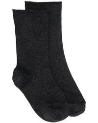 Brunello Cucinelli Носки С Эффектом Металлик - Черный