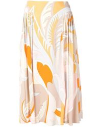 Emilio Pucci - Floral Print Fluid Skirt - Lyst