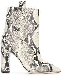 Paris Texas Animal Print Ankle Boots - Multicolour