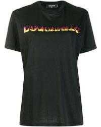 DSquared² Flames Tシャツ - ブラック