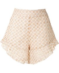 Olympiah Orchid Patterned Shorts - Natural