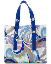 Emilio Pucci - Abstract Print Tote Bag - Lyst