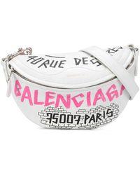 Balenciaga Поясная Сумка С Графичным Принтом - Белый
