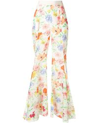 Alice McCALL Picasso Wide Floral Trousers - White