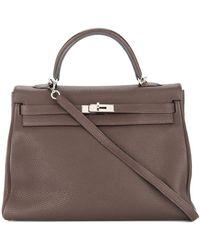 Hermès 2009 Pre-owned Kelly 35 Retourne 2way Hand Bag - Brown