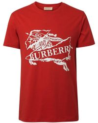 Burberry - T-Shirt mit Logo-Print - Lyst