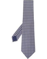 Hermès 2000s プレオウンド ストライプ ネクタイ - ブルー