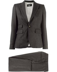 DSquared² Pinstriped Two-piece Suit - Gray