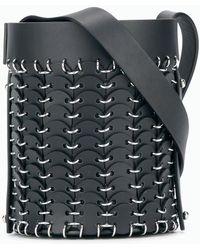 Paco Rabanne Small Bucket Bag - Black