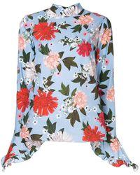 Erdem Floral Print Blouse - Blauw