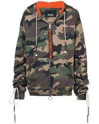 Mostly Heard Rarely Seen Camouflage Zip-up Hoodie - Green
