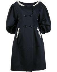 Simone Rocha Pearl-embellished Coat - Blue