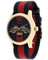 Gucci - Reloj con tribanda y motivo de abeja - Lyst