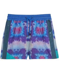 Burberry - Tie-dye Shorts - Lyst