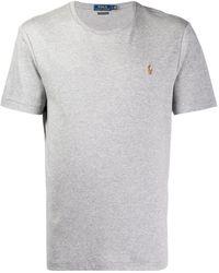 Polo Ralph Lauren T-shirt con ricamo - Grigio