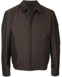 Gieves & Hawkes Lightweight Bomber Jacket - Brown