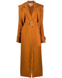 Matériel Belted Trench Coat - Orange