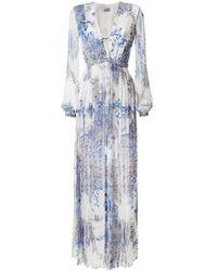 Raquel Diniz Valentina Floral-print Silk Dress - White