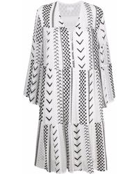Lala Berlin Dafina X-stitch Embroidered Dress - White