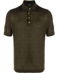 Lardini Рубашка Поло С Короткими Рукавами - Зеленый