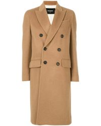 DSquared² - Classic Buttoned Coat - Lyst