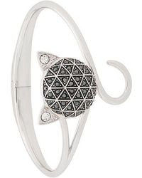 Karl Lagerfeld - Faceted Choupette Cuff - Lyst