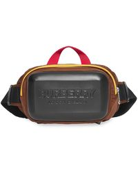 Burberry Riñonera con logo en relieve - Negro