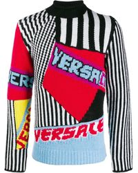 Versace - Pullover Aus Wolljacquard - Lyst