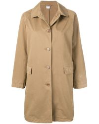 Aspesi - Button Fastened Trench Coat - Lyst