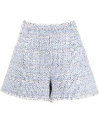 Cinq À Sept Coronado Tweed Shorts - Blue