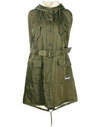 Miu Miu Belted Hooded Cape - Green