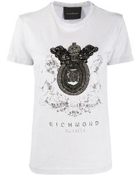 John Richmond クレスト Tシャツ - グレー