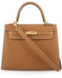 Hermès Сумка Epsom Kelly 25 Pre-owned - Коричневый