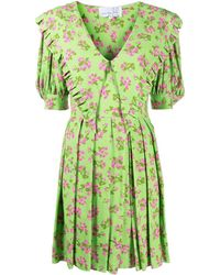 Natasha Zinko Платье Мини Prairie - Зеленый