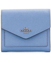 COACH 三つ折り財布 - ブルー