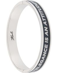 Karl Lagerfeld Karlism Bangle Bracelet - Metallic