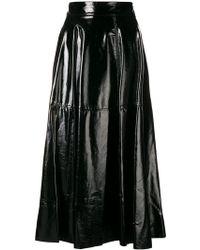 FEDERICA TOSI - Vinyl Flared Skirt - Lyst