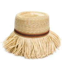 Ermanno Scervino - Fringed Woven Hat - Lyst