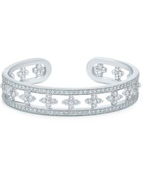 Kwiat 18kt White Gold Diamond Jasmine Cuff Bracelet - Metallic