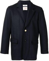 Coohem Tech Tweed Single-breasted Blazer - Blue