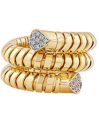 Marina B 18kt Yellow Gold Trisola Pavé Diamond Ring - Metallic
