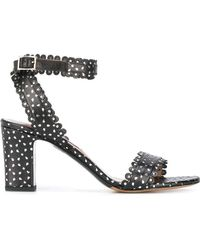 Tabitha Simmons - Leticia Perforated Leather Sandals - Lyst