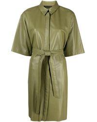 FEDERICA TOSI Платье-рубашка С Поясом - Зеленый